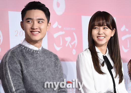 Naver Exo D O And Kim Sohyun At Pure Love Movie Prescon